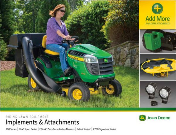 Sparrow and Kennedy John Deere Riding Mower Attachments For